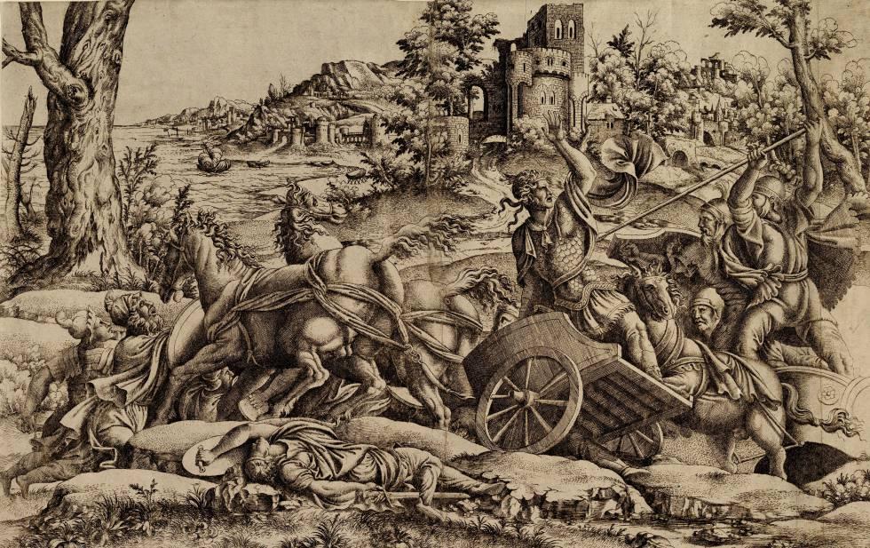 'Agamenón matando a Odio' (hacia 1545), copia anónima de la Escuela de Fontainebleau.