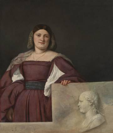 'Portrait of a Woman (La Schiavona)' (1508), by Titian.
