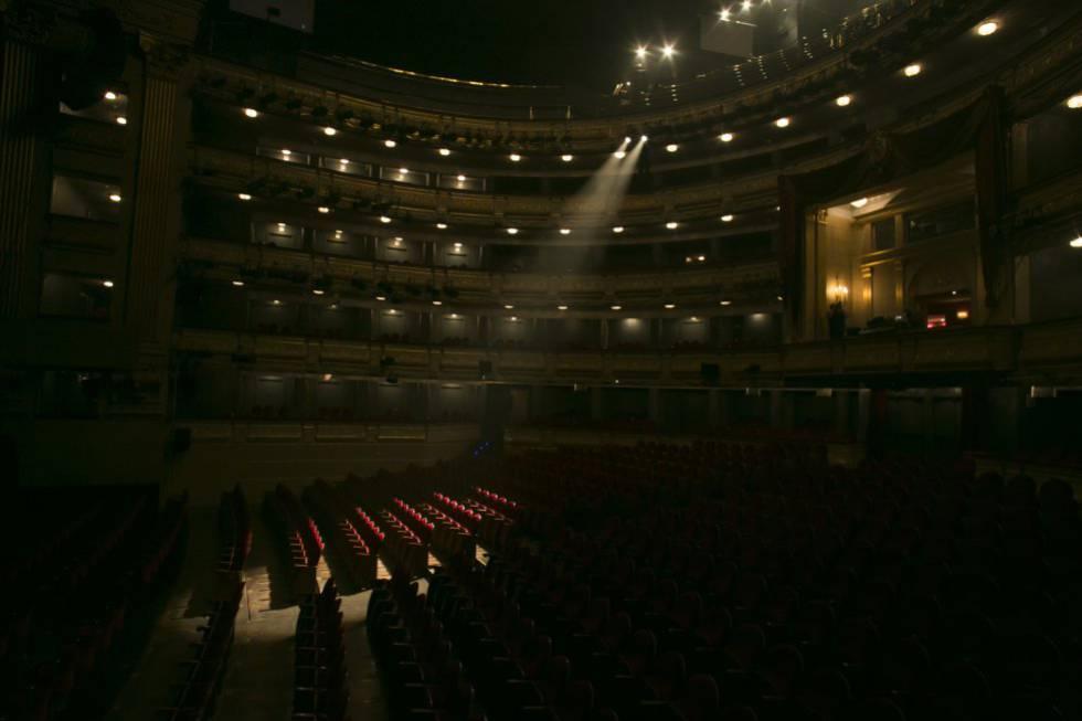 El patio de butacas del Teatro Real de Madrid.