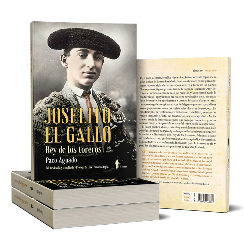 Cover of the reissued biography of Joselito el Gallo.