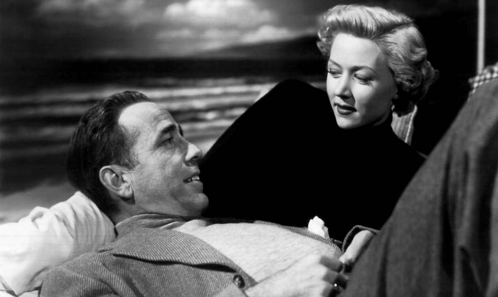 Gloria Grahame and Humphrey Bogart in 'A Lonely Place', by Nicolas Ray (1950).