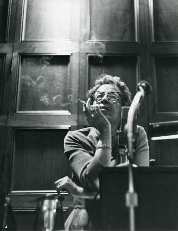 Hannah Arendt, en la Universidad de Chicago en 1966.