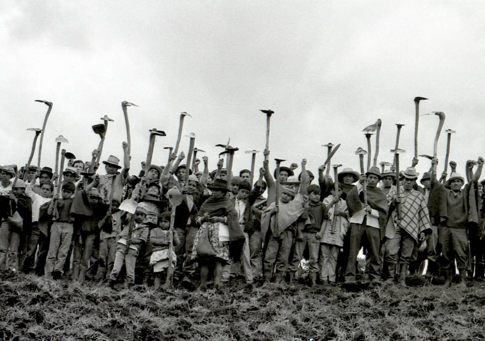 An image of 'Campesinos' (1973-1975), by Marta Rodríguez and Jorge Silva.
