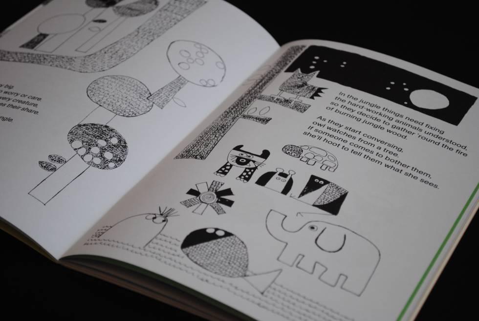 Páginas del libro de Mauricio Gatti En la selva hay mucho por hacer, reeditado por la 11ª Bienal de Berlín.