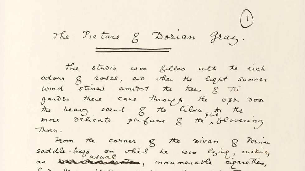 El manuscrito original de 'El retrato de Dorian Gray', de Oscar Wilde.