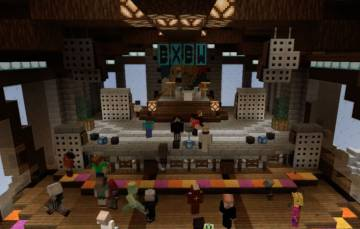 Image of one of the real-time concert events of 'Minecraft'.