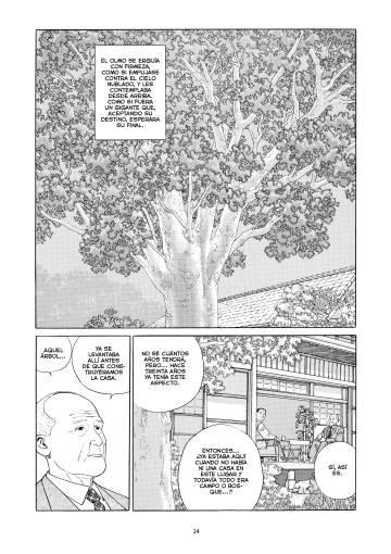 Página de 'El olmo del Cáucaso' (Ponent Mon), de Jiro Taniguchi.