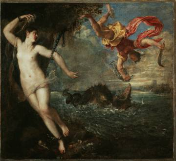 Perseus and Andromeda, by Titian, on loan to the National Gallery, London.