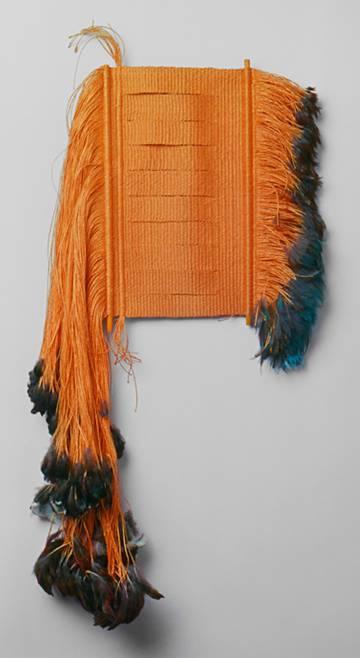 'Shield III' (1967), obra de Lenore Tawney en el Whitney Museum de Nueva York.