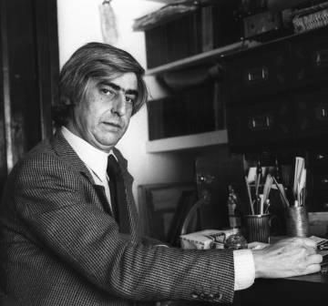 Juan Benet,en diciembre de1977.