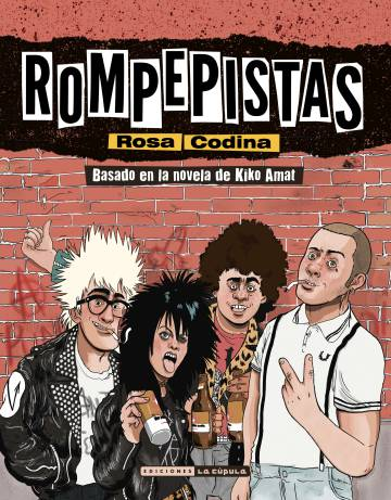 Cover of 'Rompepistas', the comic book adaptation by cartoonist Rosa Codina of the novel by Kiko Amat.