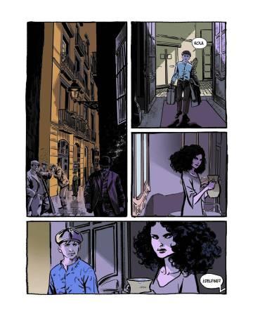 A page from 'La ciudad de los prodigios', a comic by Claudio Stassi that adapts the novel by Eduardo Mendoza.