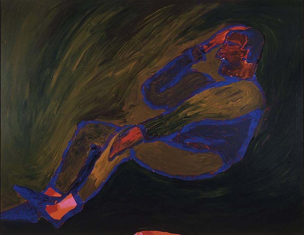Quiero dormir sin descanso (1991), acrílico sobre lienzo de Pedro Casariego Córdoba.