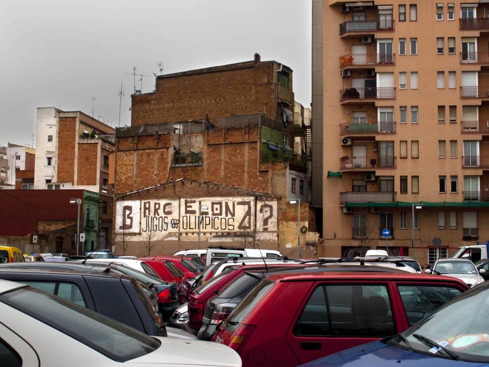Mural en una fachada de la Meridiana de Barcelona sobre los Juegos Olímpicos de 1992.