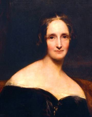 Mary Shelley, portrayed by Richard Rothwell in 1840.
