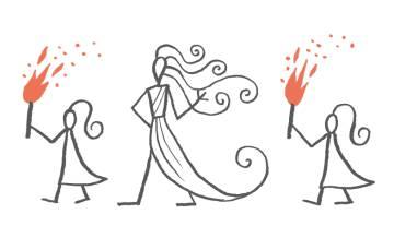 Penélope. Ilustración de Calpurnio para 'La versión de Penélope', de Margaret Atwood, incluida en la edición de la 'Odisea' publicada por Blackie Books.