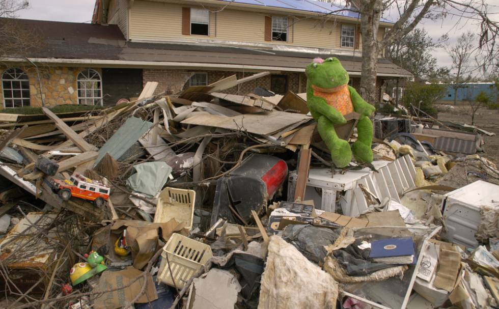 Escombros provocados por el huracán Katrina en Port Sulpher (Louisiana), en diciembre de 2005.
