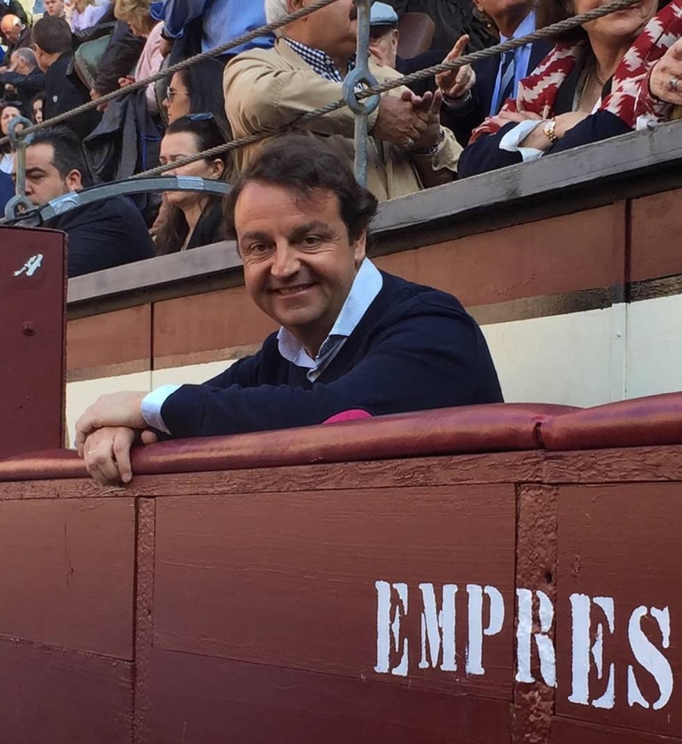 Rafael García Garrido, at the company's burladero, in Las Ventas.