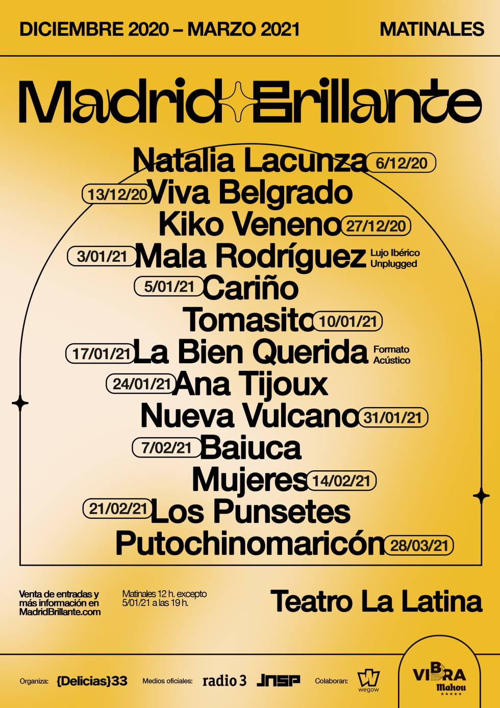 The Madrid Brillante festival will once again fill the city with concerts