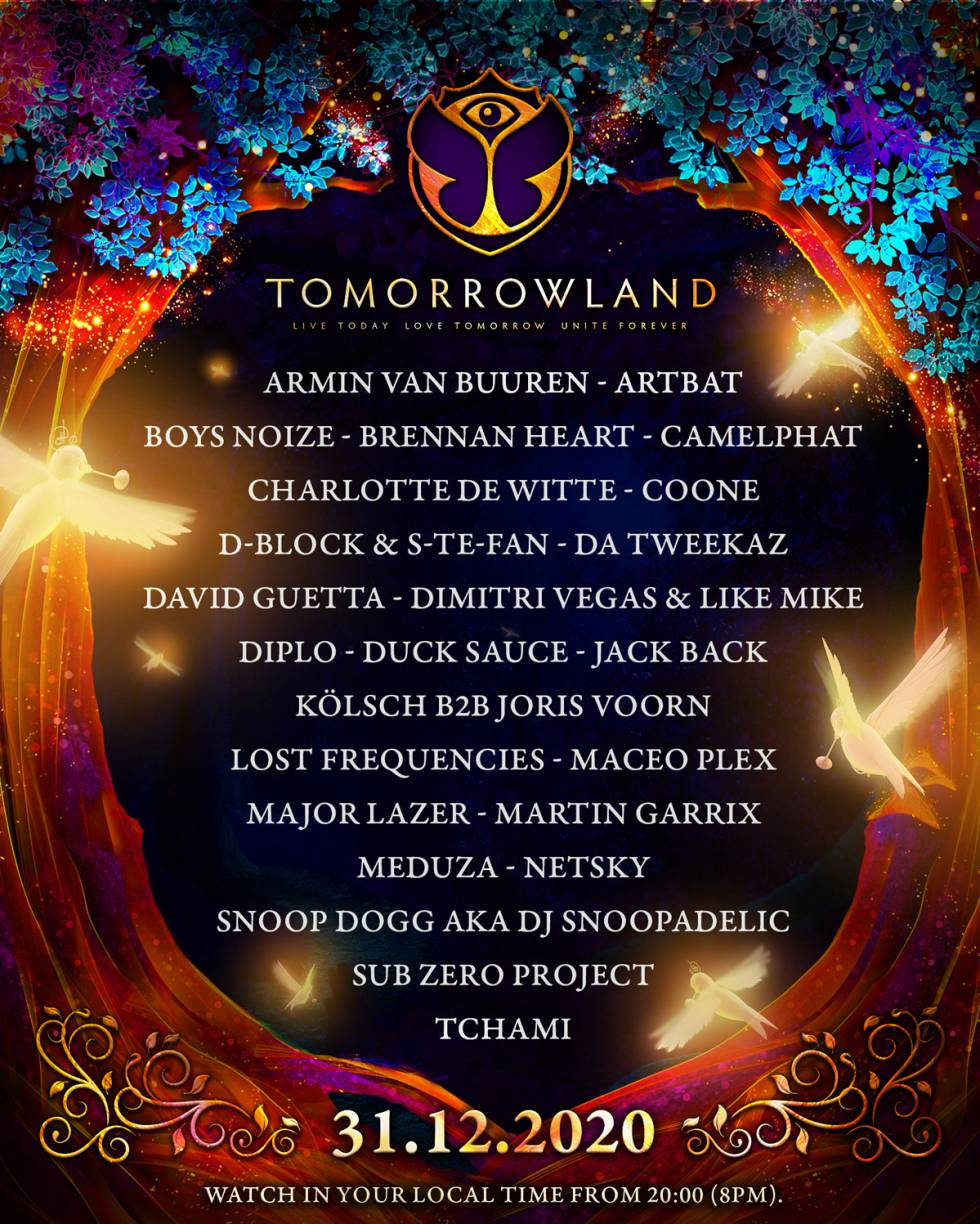 Tomorrowland will bid farewell to 2020 with an online festival on New Year's Eve