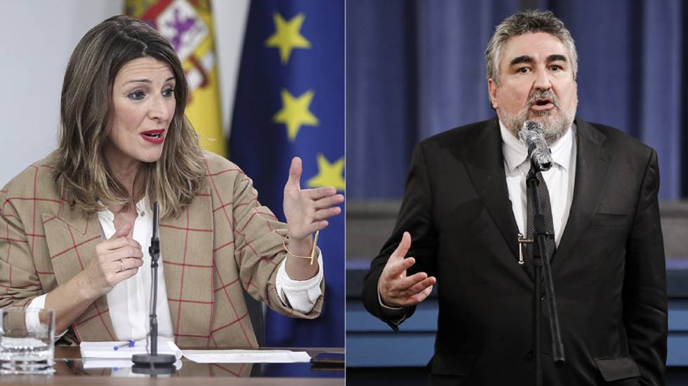 Yolanda Díaz, Minister of Labor, and José Manuel Rodríguez Uribes, Minister of Culture.