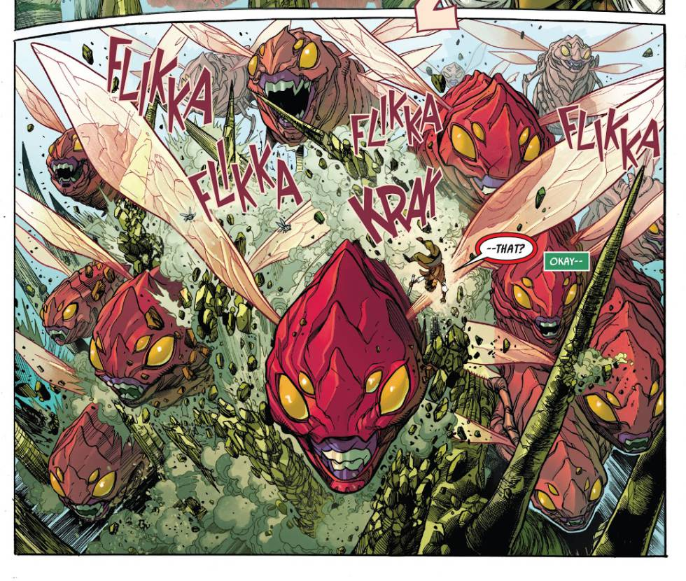 A spectacular page from the first issue of 'La Alta República'.