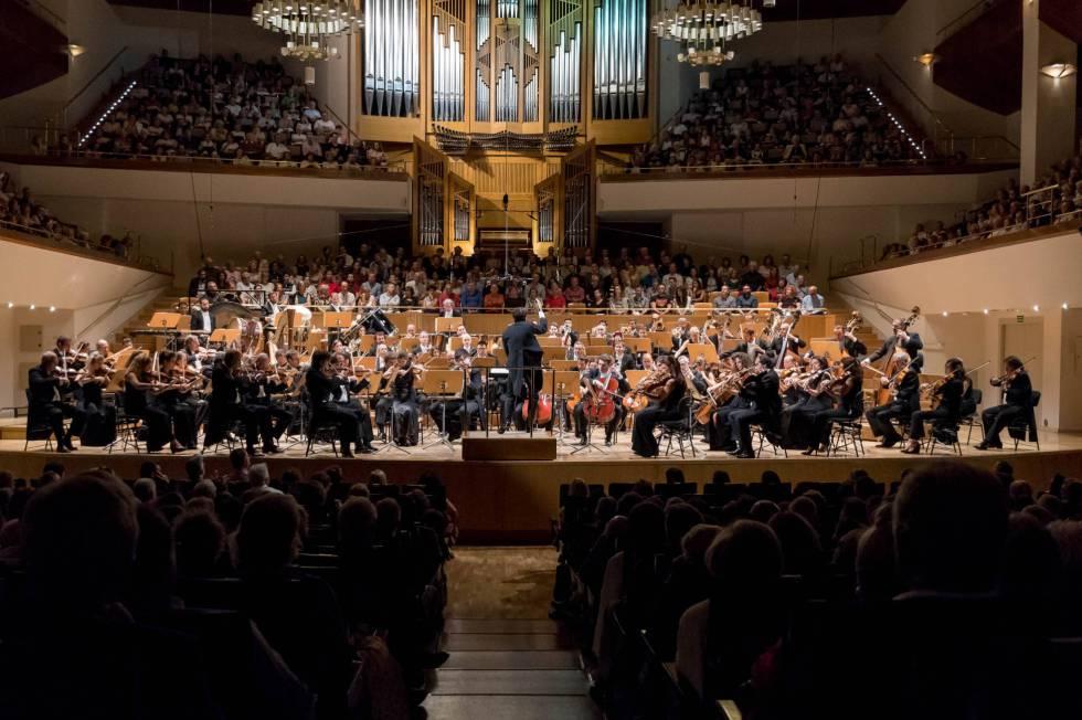 La Orquesta Nacional de España, en una actuación en septiembre de 2017, en el Auditorio Nacional.