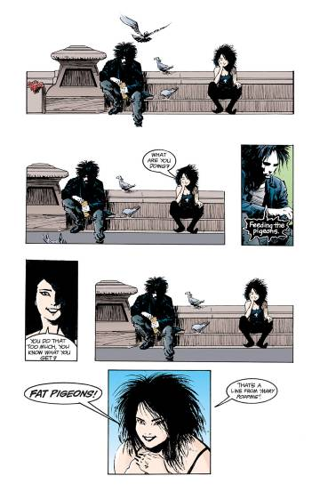 One of the most mythical pages of the Sandman comic, the conversation between Dream and Death, his dearest sister.