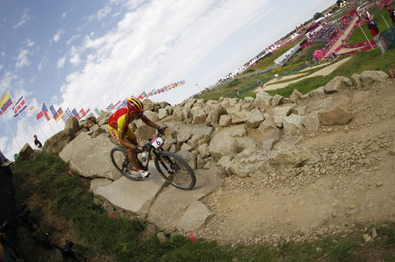 Jose Antonio Hermida, durante la final de mountain bike.