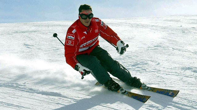 Schumacher, em Madonna dei Campiglio./ Foto: AFP/ Vídeo: REUTERS