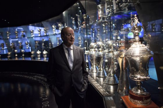 Jorge Pinto da Costa, en el museo del estadio do Dragão, en Oporto.