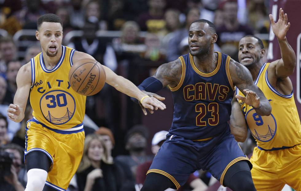 Stephen Curry y LeBron James.