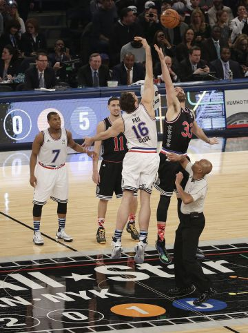Pay y Marc en el salto inicial del All Star-2015.