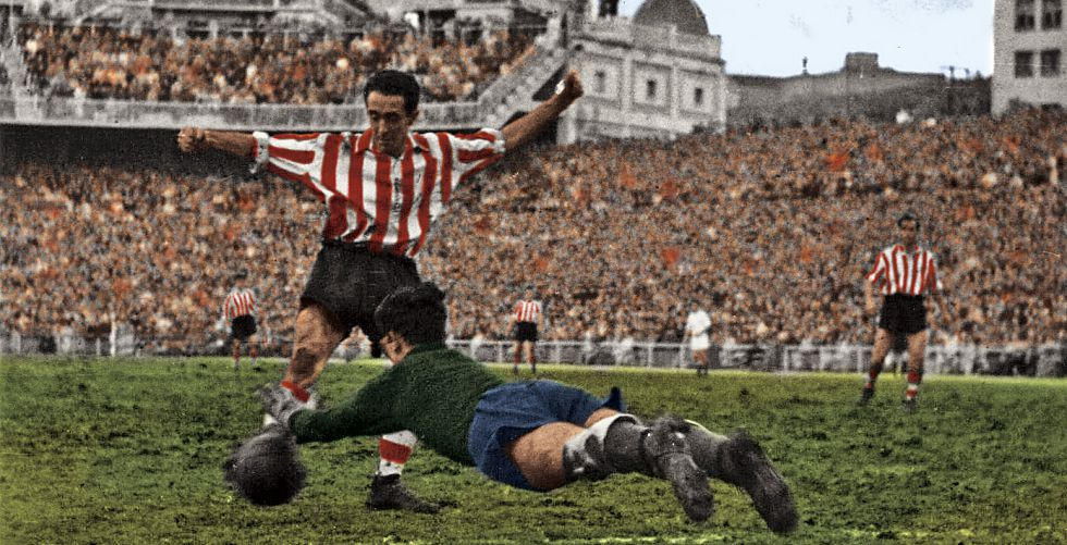 Iriondo durante un partido con el Athletic ante el Real Madrid.