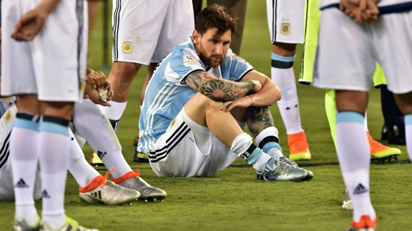 Messi, após a derrota na final da Copa América.