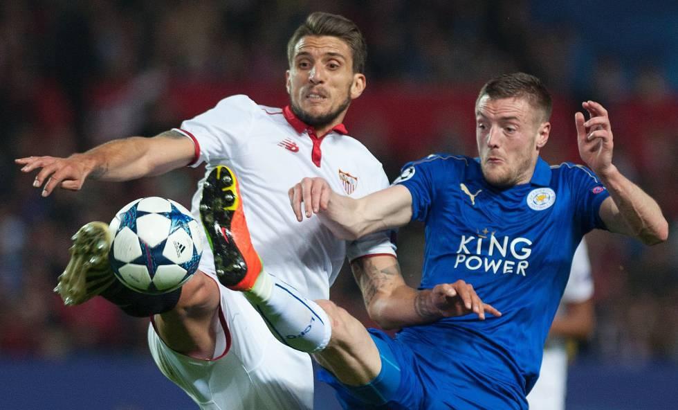 a5eaf95893e16 Vardy hace sufrir al Sevilla y da vida al Leicester