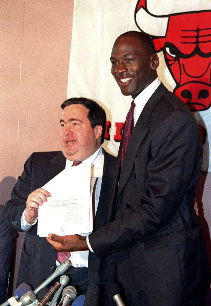 Krause i Michael Jordan.