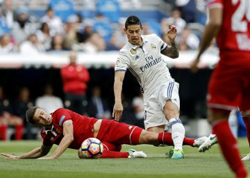 Y James se despidió del Bernabéu