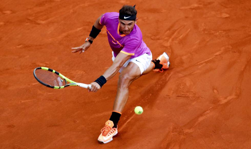 Nadal, durante la final de Madrid frente a Thiem.