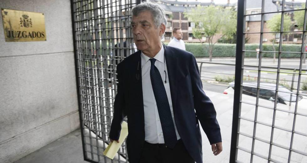 Ángel María Villar, en los juzgados de Majadahonda el pasado 6 de julio.