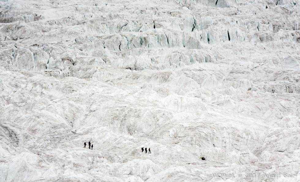 Imagen del descenso de la expedición.