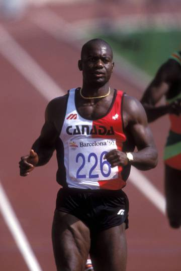 Ben Johnson, en Barcelona 92.