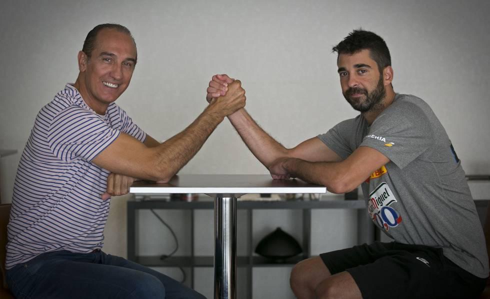 Epi y Navarro, en un encuentro en 2014.