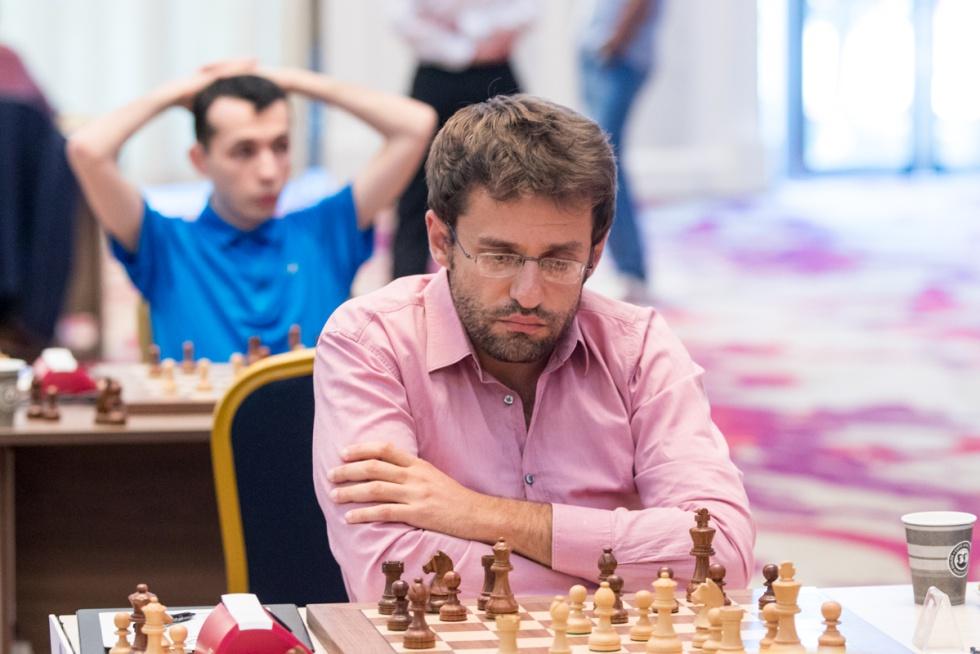 Levón Aronián, el domingo, durante la partida que perdió ante Matlákov, que le obligó a ganar hoy el desempate rápido
