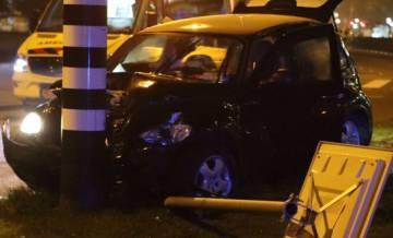 Así quedó el vehículo en el que viajaba Agüero.