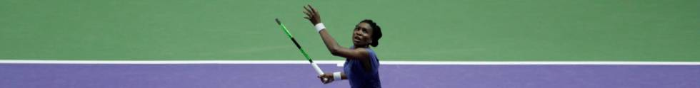 Venus Williams (37), durante el partido inaugural contra Pliskova.
