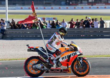 Why doesn't MotoGP star Marc Márquez celebrate with the Spanish flag?