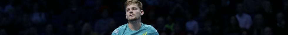 Goffin, nada más obtener la victoria contra Federer en Londres.