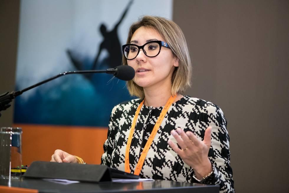 Fabiana Schneider, durante su intervención en la conferencia Play the Game.