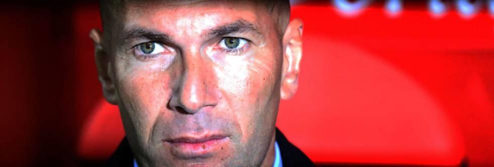 Zidane, en el partido ante el Numancia.